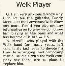 Buddy Merrill Quits Lawrence Welk